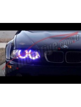 BMW E46 98-02 2 Kapı CCFL Floresan Angel Halka Mavi